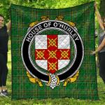 1sttheworld Premium Quilt - House Of O'Hurley Irish Family Crest Quilt - Irish National Tartan A7