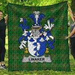 1sttheworld Premium Quilt - Linaker Irish Family Crest Quilt - Irish National Tartan A7
