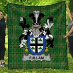 1sttheworld Premium Quilt - Fullam Irish Family Crest Quilt - Irish National Tartan A7