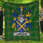 1sttheworld Premium Quilt - Jameson Irish Family Crest Quilt - Irish National Tartan A7