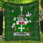 1sttheworld Premium Quilt - Crombie Irish Family Crest Quilt - Irish National Tartan A7