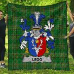 1sttheworld Premium Quilt - Legg Or Legge Irish Family Crest Quilt - Irish National Tartan A7