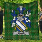 1sttheworld Premium Quilt - Aland Irish Family Crest Quilt - Irish National Tartan A7