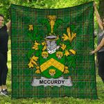 1sttheworld Premium Quilt - Mccurdy Or Curdy Irish Family Crest Quilt - Irish National Tartan A7