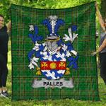 1sttheworld Premium Quilt - Palles Irish Family Crest Quilt - Irish National Tartan A7