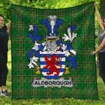 1sttheworld Premium Quilt - Aldborough Irish Family Crest Quilt - Irish National Tartan A7