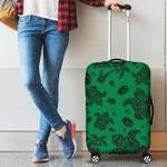 Alohawaii Accessory - Polynesian Turtle Palm And Sea Pebbles Green Luggage Covers