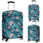 Alohawaii Accessory - Hawaii Tropical Monstera Leaf Blue Luggage Cover