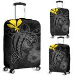 Alohawaii Accessory - Hawaii Hibiscus Luggage Cover - Harold Turtle - Gray