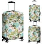 Alohawaii Accessory - Hawaii Vintage Tropical Jungle Leaves Orchid Bird Luggage Cover