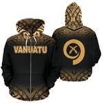 Alohawaii Clothing - Zip Hoodie Vanuatu Polynesian - Gold Fog - Bn11