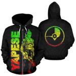 Alohawaii Clothing - Zip Hoodie Yap - Micronesia Yapese Warrior Reggae - BN39