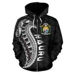 Alohawaii Clothing - Zip Hoodie Nauru , Nauru Tattoo Polynesian Wings Style A02