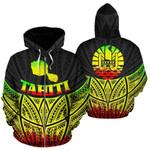 Alohawaii Clothing - Zip Hoodie Tahiti Polynesian Reggae Pride Map And Seal - BN39