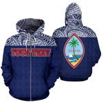 Alohawaii Clothing - Zip Hoodie Guam All Over - Custom Blue Style - Bn09