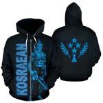 Alohawaii Clothing - Zip Hoodie Kosrae - Micronesia Kosraean Warrior Blue - BN39
