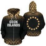 Alohawaii Clothing - Zip Hoodie Cook Islands Polynesian Fog Gold - BN39