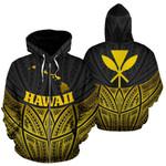 Alohawaii Clothing - Zip Hoodie Hawaii Polynesian Gold Pride Map And Seal - BN39