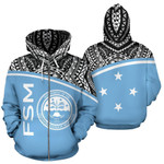 Alohawaii Clothing - Zip Hoodie Federated States Of Micronesia All Over - Bn09