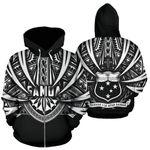 Alohawaii Clothing - Zip Hoodie Samoa Polynesian All Over Coat Of Arms TH5