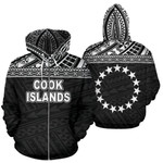 Alohawaii Clothing - Zip Hoodie Cook Islands Polynesian Horizontal Black - BN39