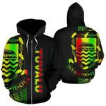 Alohawaii Clothing - Zip Hoodie Tuvalu Polynesian Line Reggae - Bn39