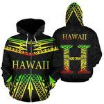 Alohawaii Clothing - Zip Hoodie Hawaii Tribal BN12