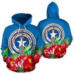 Alohawaii Clothing - Zip Hoodie Northern Mariana Islands Polynesian Flag Hibiscus - BN39