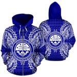Alohawaii Clothing - Zip Hoodie Federated States Of Micronesian Polynesian All Over Map Blue - BN39