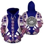 Alohawaii Clothing - Zip Hoodie American Samoa All Over - Flag Tattoo Style Custom - Bn01