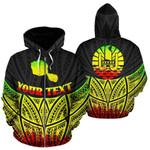 Alohawaii Clothing - Zip Hoodie Tahiti Polynesian Custom Personalised Reggae Pride Map And Seal - BN39