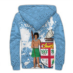Alohawaii Clothing - Fiji Sherpa Hoodie Melanesia Pattern Tenpi Style J1