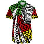 Alohawaii Shirt - Kanaka Maoli Short Sleeve Shirt Kakau Pattern Pohic Style J1