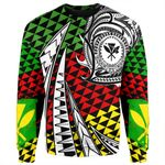 Alohawaii Clothing - Kanaka Maoli Sweatshirt Kakau Pattern Pohic Style J1