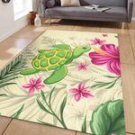 Alohawaii Home Set - Cute Turtle Hibiscus Area Rug J0
