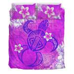 Alohawaii Bedding Set - Pink Polynesian Turtle Bedding Set J0