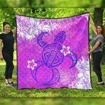 Alohawaii Home Set - Pink Polynesian Turtle Premium Quilt J0