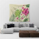 homeseta7 Alohawaii Home Set - Cute Turtle Hibiscus Tapestry J0