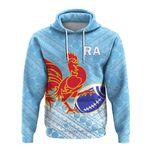 Alohawaii Fiji Clothing - Ra Rugby Union Fiji Hoodie - Tapa Pattern - LT12
