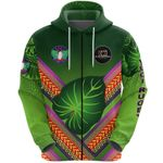 Alohawaii Clothing - (Custom Personalised) Fiji Vuci Rugby Club Zip Hoodie Creative Style - Green, Custom Text And Number LT8