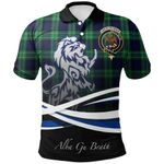 Abercrombie Polo Shirts Tartan Crest Scotland Lion A30