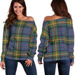 Tartan Womens Off Shoulder Sweater - MacSporran Ancient - BN