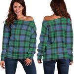 Tartan Womens Off Shoulder Sweater - Morrison Ancient - BN