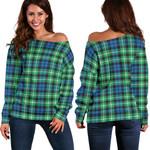 Tartan Womens Off Shoulder Sweater - Graham Of Montrose Ancient - BN