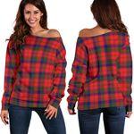 Tartan Womens Off Shoulder Sweater - Robertson Modern