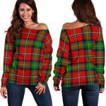 Tartan Womens Off Shoulder Sweater - Boyd Modern - BN