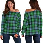Tartan Womens Off Shoulder Sweater - Arbuthnot Ancient - BN
