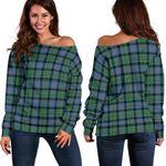 Tartan Womens Off Shoulder Sweater - Malcolm Ancient