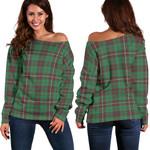 Tartan Womens Off Shoulder Sweater - MacKinnon Hunting Ancient