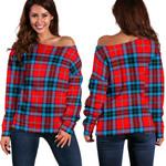 Tartan Womens Off Shoulder Sweater - MacTavish Modern